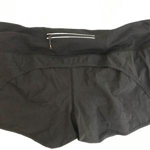 LULULEMON black SPEED shorts Women's 12